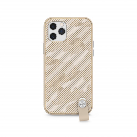 Moshi Altra slim case w detachable wrist strap for iPhone 12/12 Pro (SnapToª) - Beige
