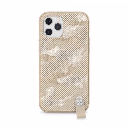 Moshi Altra slim case w detachable wrist strap for iPhone 12 Pro Max (SnapToª) - Beige