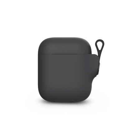 Moshi Pebbo AirPods Case (1st/2nd Gen) Detachable Wrist Strap & LintGuardª Protection - Shadow Black