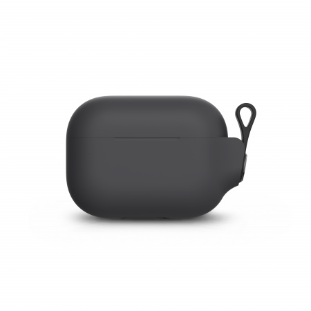 Moshi Pebbo AirPods Pro Case Detachable Wrist Strap & LintGuardª Protection - Shadow Black