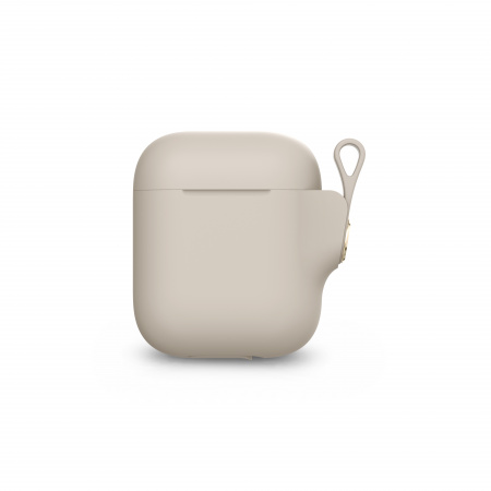 Moshi Pebbo AirPods Case (1st/2nd Gen) Detachable Wrist Strap & LintGuardª Protection - Savanna Beige