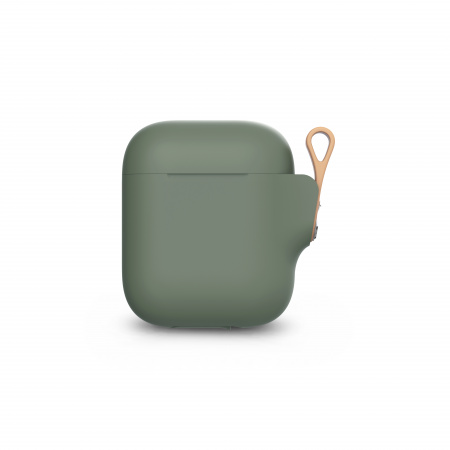 Moshi Pebbo AirPods Case (1st/2nd Gen) Detachable Wrist Strap & LintGuardª Protection - Mint Green