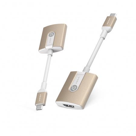 Adam Elements casa H01 USB-C to HDMI Adapter (3y warranty) - Gold
