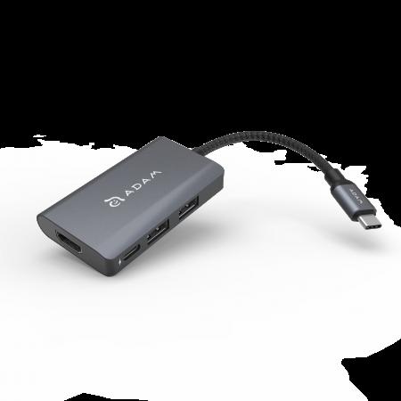Adam Elements Casa Hub A01m USB 3.1 Type-C 4-in-1 Multi Function (3y warranty) - Gray