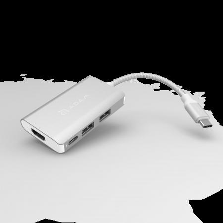 Adam Elements Casa Hub A01m USB 3.1 Type-C 4-in-1 Multi Function (3y warranty) - Silver