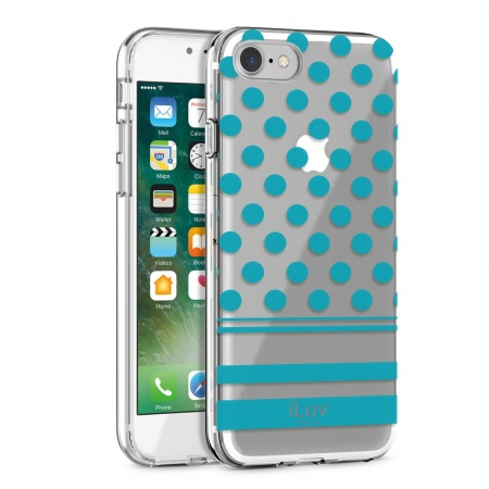 iLuv DotStyle Case for iPhone 7/8 - Blue