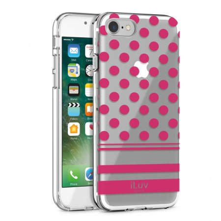 iLuv DotStyle Case for iPhone 7 Plus/8 Plus - Pink
