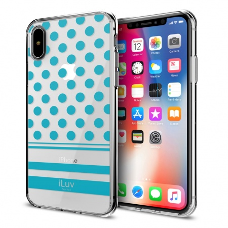 iLuv DotStyle Case for iPhone X/XS - Blue