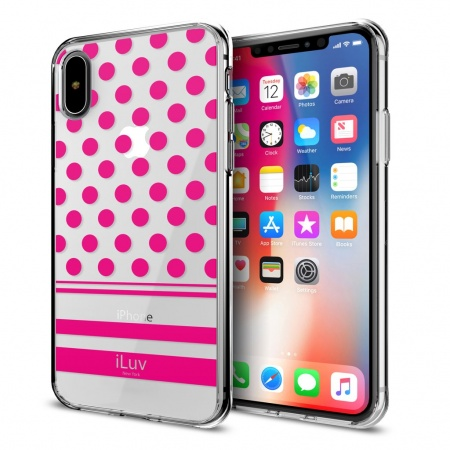 iLuv DotStyle Case for iPhone X/XS - Pink