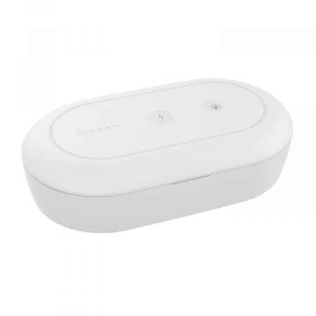 Adam Elements Omnia UVC+ Ozone Sterilizer Box w Fast Wireless Charger - White
