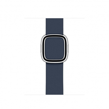 Apple Watch 40mm Band:  Deep Sea Blue Modern Buckle - Large (DEMO) (Seasonal Spring2020)