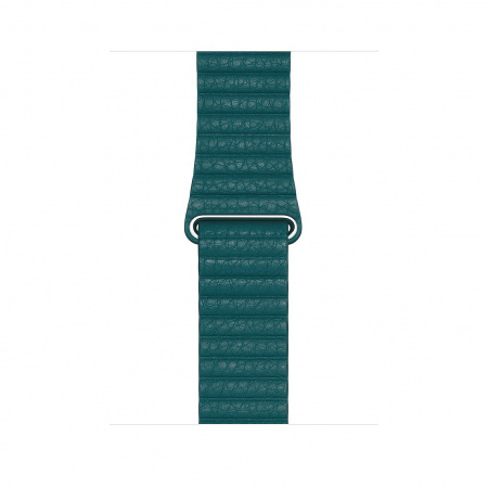 Apple Watch 44mm Band:  Peacock Leather Loop - Medium (DEMO) (Seasonal Spring2020)