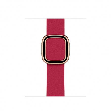 Apple Watch 40mm Band:  Raspberry Modern Buckle - Medium (Seasonal Spring2020)