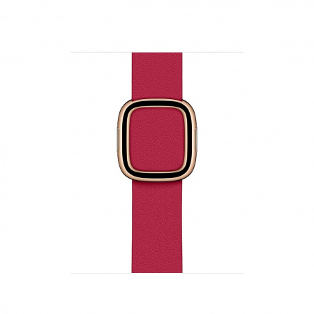 Apple Watch 40mm Band:  Raspberry Modern Buckle - Medium (DEMO) (Seasonal Spring2020)