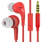 iLuv Bubble Gum 3 In Earphones with built-in mic and remote - Red