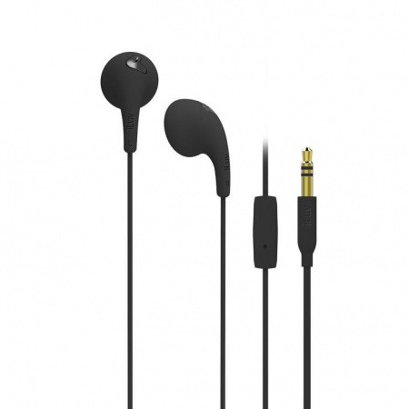 iLuv Bubble Gum Talk Earphones with built-in mic and remote - Black