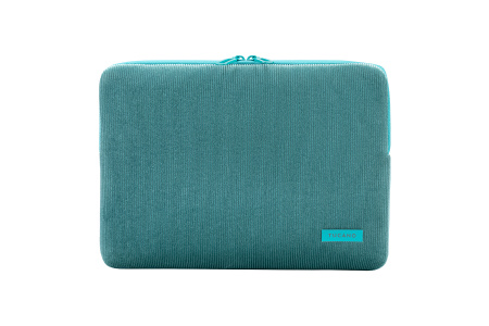 Tucano Velluto 13inch Case Stretchy neoprene & corduroy cover MacBook Pro/Air 13inch & Laptop 12inch - Petrol Blue