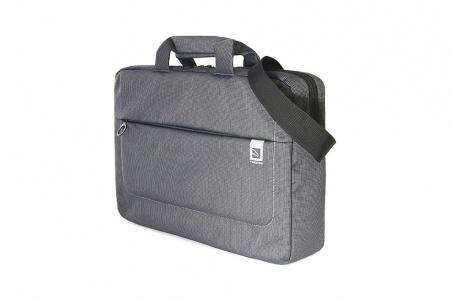 Tucano Loop 15inch Slim bag Laptop 15.6inch & MacBook Pro 16inch Non-removable, webbing shoulder strap - Black