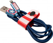 Tribe Marvel Captain America Lightning Cable (120 cm) - Blue