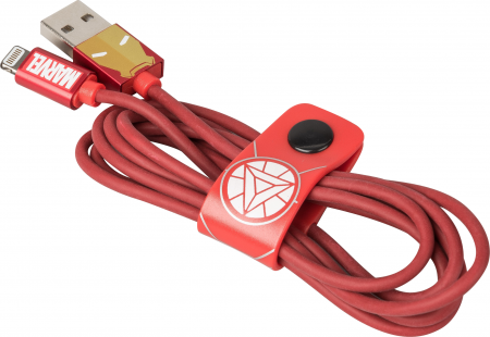 Tribe Marvel Iron Man Lightning Cable (120 cm) - Red