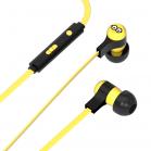 Tribe Minions Tom Swing Earphones - Yellow