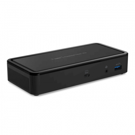 Belkin Hub Thunderboltª 3 Series2 - 1-Port Thunder3, 1-Port Audio, 1-Port USB-3.1, 1-Port Ethernet, 2-Port USB-3.1, 2-Port USB-C, 2-Port Display MiniPort - Black