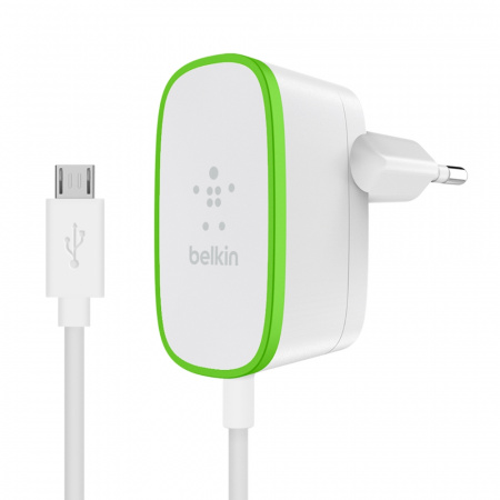 Belkin Home Charger with hardwired Micro-USB cable - Black