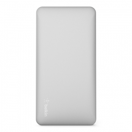 Belkin Pocket Power Bank 10K MAh USB-A to MicroUSB Cable included - Silver