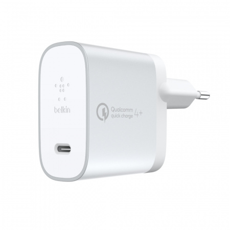Belkin BOOST_CHARGEª Wall Charger Quick Chargeª USB-C to USB-C 1.2m cable included - White