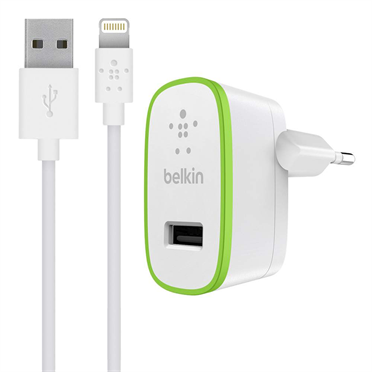 Belkin BOOST_UPª Wall Charger 2.4A USB-2.0 USB-C to Lightning 1.2m cable included - White