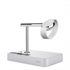 Belkin Valet Charge Dock for Apple Watch + iPhone silver