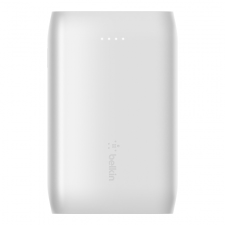 Belkin Power Bank BOOST_CHARGEª 10K MAh (2xUSB-A,1xUSB-C) USB-A to USB-C Cable included - White