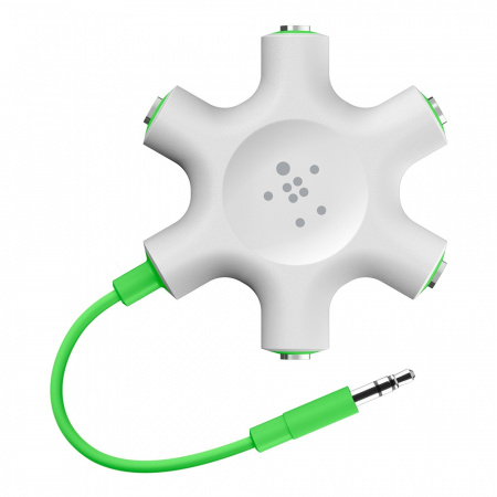 Belkin RockStar 5 x 3 5mm Jack Audio Splitter - White