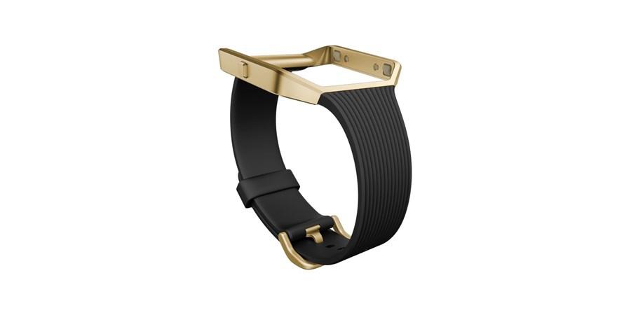 Fitbit Blaze slim řemínek zlatý kov L - černá