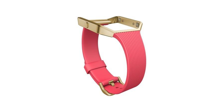 Fitbit Blaze slim řemínek zlatý kov S - růžová