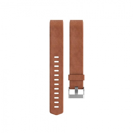 Fitbit Charge 2 Accessory Band, Leather, Brown - Small