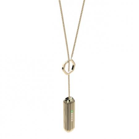 Fitbit Flex 2 Accessory Pendant (Metal neckless) Gold