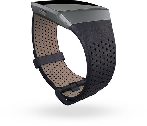 Fitbit Ionic Accessory Band Perforated Leather Midnight Blue - Large