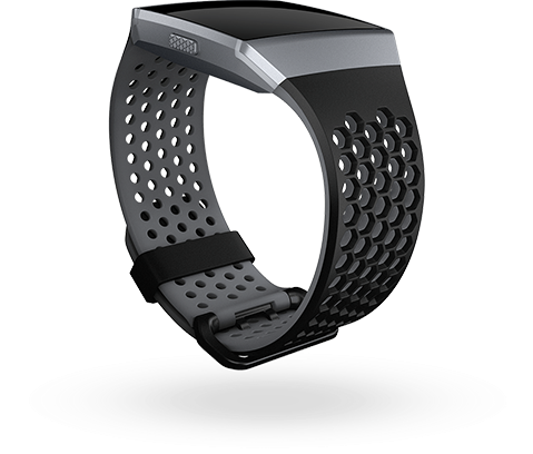 Fitbit Ionic Accessory Sport Band Black Gray - Large