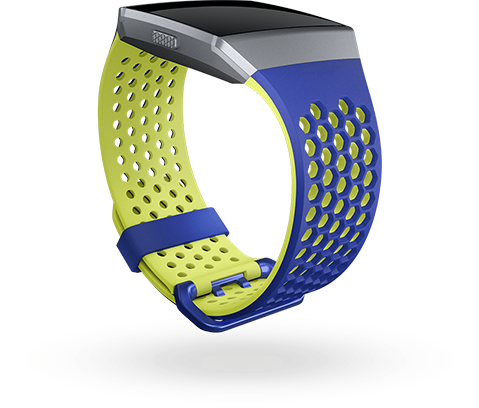 Fitbit Ionic Accessory Sport Band Blue Yellow - Large