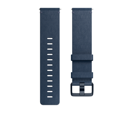Fitbit Versa Accessory Band Leather Midnight Blue - Large