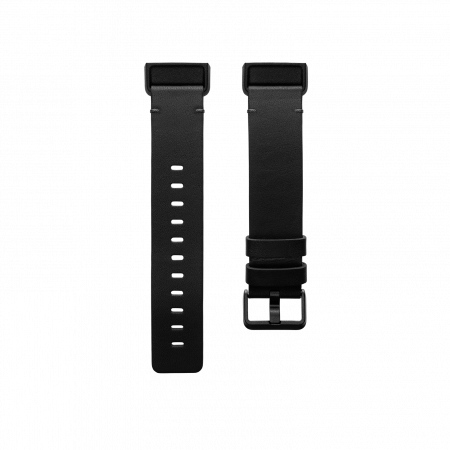 Fitbit (Accessory) Charge 4 Leather Band Black Large