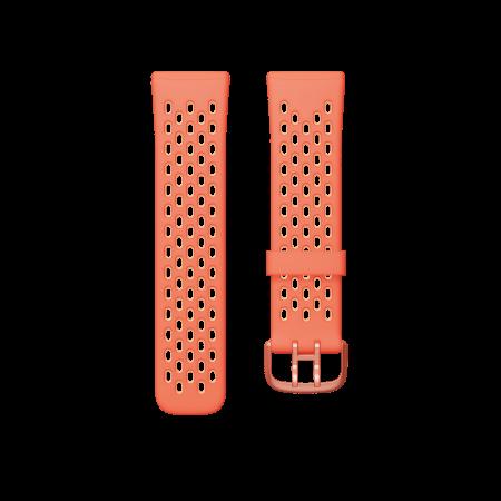 Fitbit (Accessory) Versa 3 Sense Sport Band Melon Rose Large