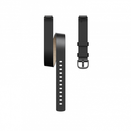 Fitbit (Accessory) Luxe Leather Double Wrap Black One Size