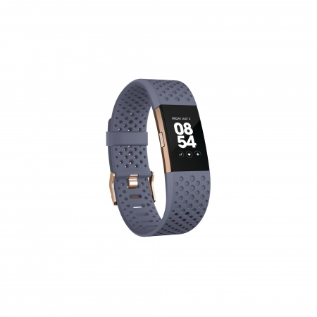 Fitbit Charge 2 - Blue/Grey, Rose Gold (Sport) - Small