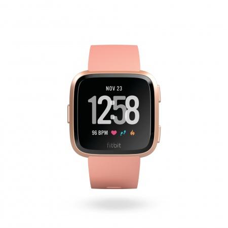 Fitbit Versa (NFC) w FitbitPay - Peach / Rose Gold Aluminum