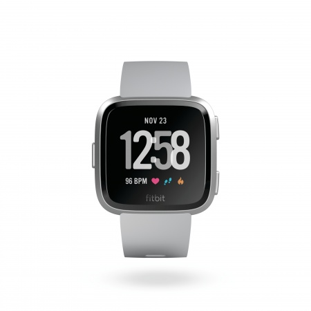 Fitbit Versa (NFC) w FitbitPay - Gray / Silver Aluminum