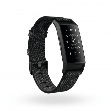 Fitbit Charge 4 Special Edition (NFC) Granite w integrated GPS & FitbitPay - Refl / Blk