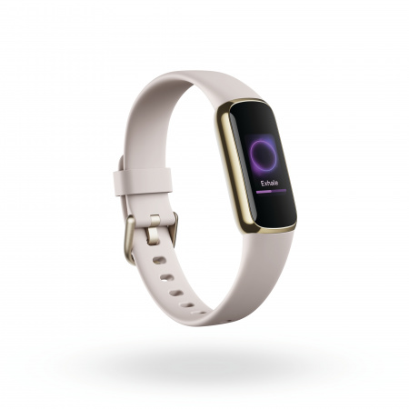 Fitbit Luxe - Soft Gold/White (w extra Charging cable & extra Peony Classic band)