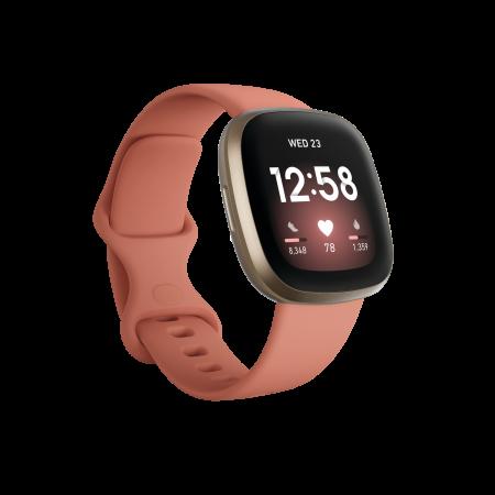 Fitbit Versa 3 - Pink Clay/Soft Gold Aluminum